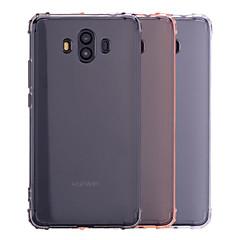 Недорогие Чехлы и кейсы для Huawei Mate-Кейс для Назначение Huawei Mate 10 Mate 10 lite Защита от удара Полупрозрачный Прозрачный Кейс на заднюю панель Однотонный Мягкий ТПУ для