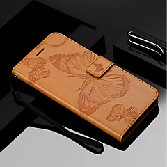 cheap Cases / Covers for Motorola-Case For Motorola MOTO G6 / Moto G6 Plus Wallet / Card Holder / with Stand Full Body Cases Butterfly Hard PU Leather for Moto Z Force / Moto X Style / MOTO G6 / Moto G5 Plus