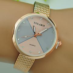 preiswerte Damenuhren-Damen Armbanduhr Chinesisch Kreativ / Armbanduhren für den Alltag Plastic Band Mehrfarbig / Modisch Schwarz / Weiß / Gold