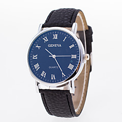 preiswerte Herrenuhren-Herrn Damen Armbanduhr Quartz Armbanduhren für den Alltag PU Band Analog Modisch Schwarz - Weiß Blau
