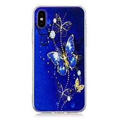 お買い得  iPhone 5S/SE ケース-ケース 用途 Apple iPhone X / iPhone 8 Plus パターン バックカバー バタフライ ソフト TPU のために iPhone X / iPhone 8 Plus / iPhone 8