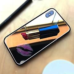 Недорогие Кейсы для iPhone 6 Plus-Кейс для Назначение Apple iPhone X / iPhone 8 Зеркальная поверхность Кейс на заднюю панель Однотонный Твердый Закаленное стекло для