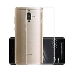 Недорогие Чехлы и кейсы для Huawei Mate-Кейс для Назначение Huawei Mate 9 Pro Прозрачный Кейс на заднюю панель Однотонный Мягкий ТПУ для Mate 9 Pro