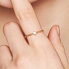 preiswerte Ringe-Damen Kubikzirkonia Bandring - S925 Sterling Silber Zierlich, Klassisch, Modisch 8 Gold Für Alltag / Party