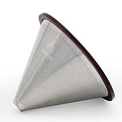 abordables Accesorios para café-1pc Acero Inoxidable Filtro de café Resistente al calor ,  12.8*12.8*9cm