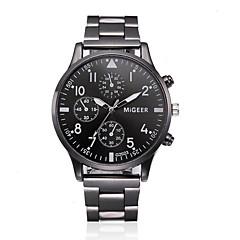 お買い得  メンズ腕時計-男性用 リストウォッチ 中国 クロノグラフ付き / 大きめ文字盤 合金 バンド バングル / ミニマリスト ブラック / シルバー / ローズゴールド / SSUO LR626