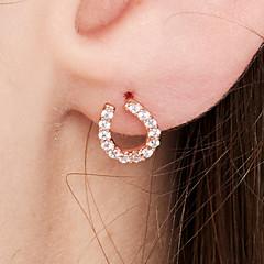 preiswerte Ohrringe-Damen Ohrstecker - 18K vergoldet, S925 Sterling Silber Zierlich, Erklärung, Einfach Rotgold Für Party / Abend / Party