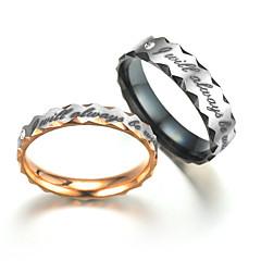 preiswerte Ringe-Kubikzirkonia Eheringe / Bandring - Welle Klassisch, Modisch 6 / 7 / 8 Gold / Schwarz Für Verlobung / Geschenk / Alltag