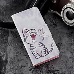 お買い得  Huawei Pシリーズケース/ カバー-ケース 用途 Huawei P20 / P20 lite ウォレット / カードホルダー / スタンド付き フルボディーケース 猫 ハード PUレザー のために Huawei P20 / Huawei P20 lite / P10 Lite