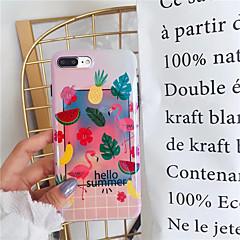 Недорогие Кейсы для iPhone-Кейс для Назначение Apple iPhone X iPhone 7 Plus IMD Кейс на заднюю панель Фламинго Фрукты Мягкий Силикон для iPhone X iPhone 8 Pluss