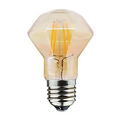 billige LED-lyspærer-1pc 4W 220-300lm E26 / E27 LED-glødetrådspærer D80 4 LED Perler COB Dæmpbar Varm hvid 220-240V