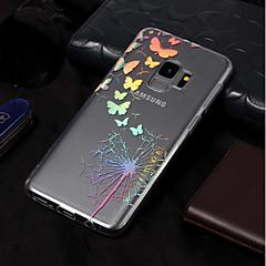 halpa Galaxy S3 kotelot / kuoret-Etui Käyttötarkoitus Samsung Galaxy S9 / S9 Plus Pinnoitus / Kuvio Takakuori Perhonen / Voikukka Pehmeä TPU varten S9 Plus / S9 / S8 Plus