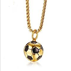Недорогие Ожерелья-Муж. Ожерелья с подвесками  -  Мода Круглый Золотой 60cm Ожерелье Назначение Подарок Повседневные