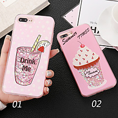 Недорогие Кейсы для iPhone 7-Кейс для Назначение Apple iPhone X Защита от удара Кейс на заднюю панель Слова / выражения Сияние и блеск Мороженное Твердый ПК для
