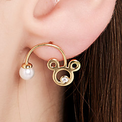 preiswerte Ohrringe-Damen Ohrstecker - 18K vergoldet, S925 Sterling Silber Tier Zierlich, Zeichentrick Gold Für Alltag Ausgehen