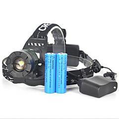 preiswerte Stirnlampen-Stirnlampen / Sicherheitsleuchten LED 5000lm 1 Beleuchtungsmodus Tragbar / Professionell / Verschleißfest Camping / Wandern / Erkundungen