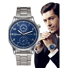 お買い得  メンズ腕時計-男性用 クォーツ リストウォッチ 中国 クロノグラフ付き 大きめ文字盤 合金 バンド ぜいたく バングル シルバー ローズゴールド