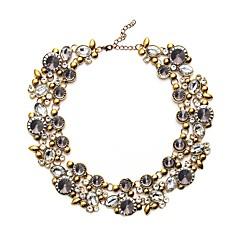 Недорогие Женские украшения-Ожерелья-бархатки - европейский Серый, Цвет радуги, Синий 43 cm Ожерелье Назначение Для вечеринок