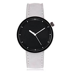 preiswerte Damenuhren-Herrn / Damen Armbanduhr Chinesisch Großes Ziffernblatt Leder Band Mehrfarbig / Armreif Schwarz / Weiß / Rot