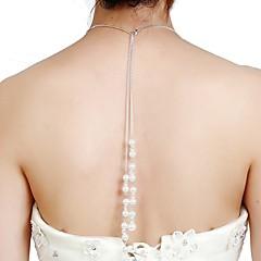 preiswerte Halsketten-Damen Lang Y Halskette  -  Künstliche Perle Alphabet Form Elegant Weiß 50 cm Modische Halsketten 1pc Für Party / Abend, Geschenk