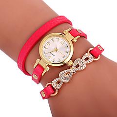 お買い得  レディース腕時計-Xu™ 女性用 ブレスレットウォッチ / リストウォッチ 中国 クリエイティブ / カジュアルウォッチ / 愛らしいです PU バンド 蝶型 / ボヘミアンスタイル ブラック / 白 / レッド / 模造ダイヤモンド / 大きめ文字盤 / 1年間