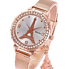 preiswerte Damenuhren-Damen damas Armbanduhr Quartz Armbanduhren für den Alltag Legierung Band Analog Eiffelturm Modisch Silber / Gold / Rotgold - Silber Rotgold Rotgold / Weiß
