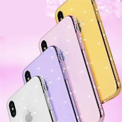 Недорогие Кейсы для iPhone X-Кейс для Назначение Apple iPhone 8 / iPhone 8 Plus Стразы / Сияние и блеск Кейс на заднюю панель Геометрический рисунок / Сияние и блеск