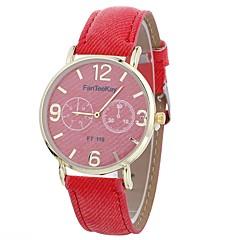 preiswerte Damenuhren-Xu™ Damen Kleideruhr / Armbanduhr Chinesisch Kreativ / Armbanduhren für den Alltag / Großes Ziffernblatt PU Band Freizeit / Modisch Schwarz / Weiß / Blau / Ein Jahr