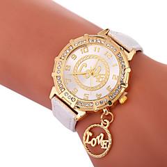 お買い得  レディース腕時計-Xu™ 女性用 ドレスウォッチ / リストウォッチ 中国 クリエイティブ / カジュアルウォッチ / かわいい PU バンド ファッション / ワードダイアル腕時計 ブラック / 白 / ブルー / 模造ダイヤモンド / 大きめ文字盤 / 1年間