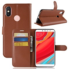 cheap Cases / Covers for Xiaomi-Case For Xiaomi Redmi S2 / Mi 8 Wallet / Card Holder / Flip Full Body Cases Solid Colored Hard PU Leather for Xiaomi Redmi Note 5A / Xiaomi Redmi Note 5 Pro / Xiaomi Redmi Note 5 / Xiaomi Redmi 4A