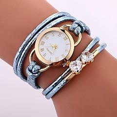 お買い得  レディース腕時計-Xu™ 女性用 ドレスウォッチ / リストウォッチ 中国 クリエイティブ / カジュアルウォッチ / 模造ダイヤモンド PU バンド Heart Shape / ファッション ブラック / 白 / ブルー / 大きめ文字盤 / 1年間