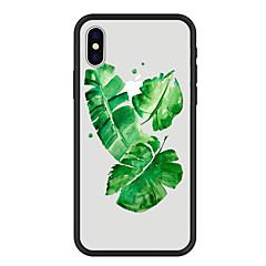Недорогие Кейсы для iPhone 5-Кейс для Назначение Apple iPhone X / iPhone 8 Plus С узором Кейс на заднюю панель Растения / Мультипликация Твердый Акрил для iPhone X / iPhone 8 Pluss / iPhone 8
