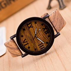 お買い得  レディース腕時計-女性用 リストウォッチ 中国 カジュアルウォッチ レザー バンド ファッション / ウッド ブラック / ブラウン / グレー