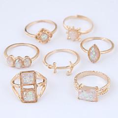 preiswerte Ringe-Damen Hohl Ring-Set - Anker Europäisch, Modisch 7 Gold Für Normal