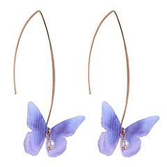 preiswerte Ohrringe-Damen Tropfen-Ohrringe - Künstliche Perle Schmetterling Stilvoll Hellgelb / Rot / Hellblau Für Geburtstag / Alltag