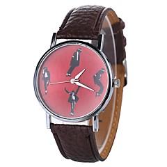 お買い得  レディース腕時計-Xu™ 女性用 ドレスウォッチ / リストウォッチ 中国 クリエイティブ / カジュアルウォッチ / クール PU バンド カジュアル / ファッション ブラック / 白 / ブルー