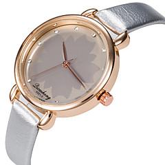 お買い得  レディース腕時計-女性用 リストウォッチ カジュアルウォッチ / かわいい PU バンド ファッション / エレガント ブラック / 白 / シルバー