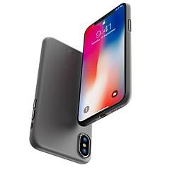 Недорогие Кейсы для iPhone 6 Plus-Кейс для Назначение Apple iPhone X / iPhone 8 Матовое Кейс на заднюю панель Однотонный Твердый ПК для iPhone X / iPhone 8 Pluss / iPhone 8