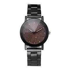 preiswerte Damenuhren-Damen Armbanduhr Quartz Chronograph Armbanduhren für den Alltag Cool Edelstahl Band Analog Armreif Elegant Schwarz - Schwarz Ein Jahr Batterielebensdauer