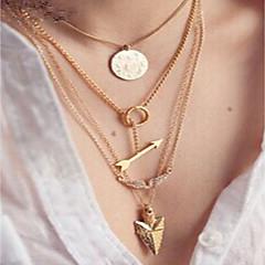 preiswerte Halsketten-Damen Dicke Kette Ketten / Layered Ketten  -  Modisch, Erklärung, Disko Gold 39 cm Modische Halsketten 4pcs Für Festtage, Ausgehen