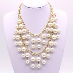 preiswerte Halsketten-Damen Quaste Layered Ketten - Künstliche Perle Kugel Elegant Gold 50 cm Modische Halsketten Schmuck 1pc Für Party