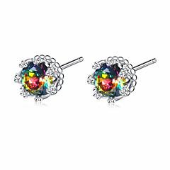 preiswerte Ohrringe-Damen Kubikzirkonia Kronleuchter Ohrstecker - Blume Stilvoll, Modisch Silber Für Hochzeit / Alltag