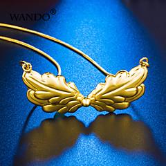 abordables Collares de cadena-Mujer Cadena de enlace Collares de cadena - Chapado en Oro damas, Bohemio, Romántico, Boho Encantador Dorado 5#5#1 cm Gargantillas Joyas 1pc Para Fiesta / Noche