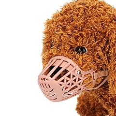 お買い得  犬用首輪/リード/ハーネス-犬用 / 猫用 / 小型ペット用 マズル しつけ用品 ソリッド プラスチック ピンク