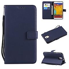 Недорогие Чехлы и кейсы для Galaxy Note 5-Кейс для Назначение SSamsung Galaxy Note 8 / Note 5 Кошелек / Бумажник для карт / Флип Чехол Однотонный Твердый Кожа PU для Note 8 / Note 5 / Note 4