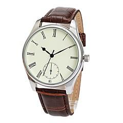preiswerte Herrenuhren-Herrn Armbanduhr Japanisch Wasserdicht / Armbanduhren für den Alltag PU Band Freizeit / Elegant Braun