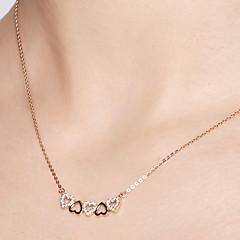 preiswerte Halsketten-Damen Anhängerketten / Ketten - 18K vergoldet, S925 Sterling Silber Herz Zierlich Gold 40 cm Modische Halsketten Für Geschenk, Alltag