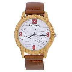 preiswerte Damenuhren-Xu™ Damen Kleideruhr / Armbanduhr Chinesisch Kreativ / Armbanduhren für den Alltag / Großes Ziffernblatt PU Band Modisch / Uhr mit Wörtern Schwarz / Braun / Schokolade
