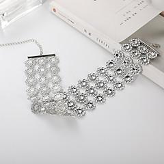 お買い得  ネックレス-女性用 レイヤード チョーカー  -  欧風, ファッション ホワイト 30 cm ネックレス 1個 用途 カジュアル