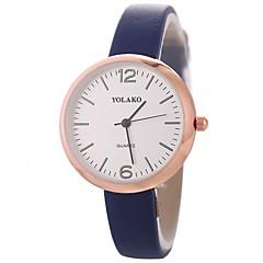 お買い得  レディース腕時計-Xu™ 女性用 リストウォッチ 中国 クリエイティブ / カジュアルウォッチ / 大きめ文字盤 PU バンド ファッション / ミニマリスト ブラック / 白 / ブルー